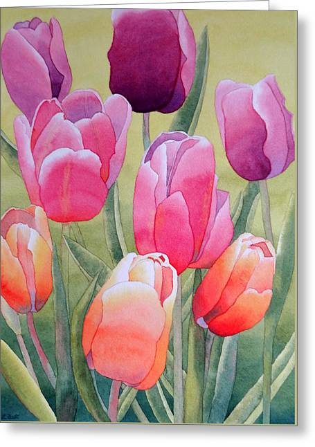 Greeting Card featuring the painting Spring by Laurel Best