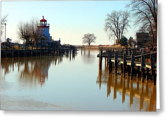 Spring On The Ausable River At Grand Bend Greeting Card