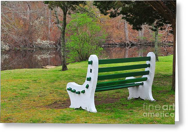 Spring On The Ponaganset River  Greeting Card by Catherine Reusch Daley
