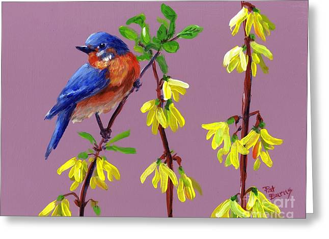 Spring Greeting Card by Pat Burns