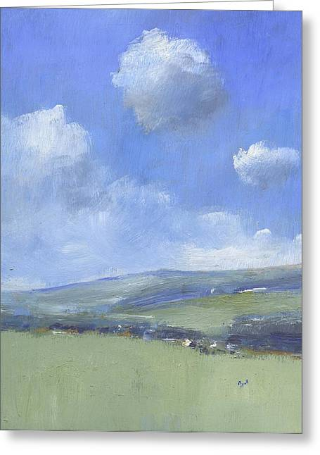 Spring Sky Over Ashey Down Greeting Card