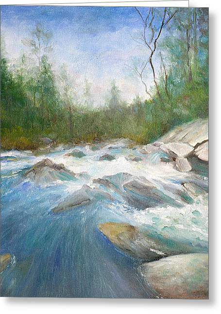 Spring Thaw Greeting Card by Max Mckenzie