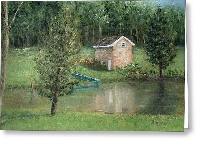 Springhouse Reflection Greeting Card