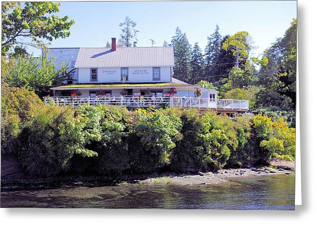 Springwater Lodge Greeting Card by John  Greaves