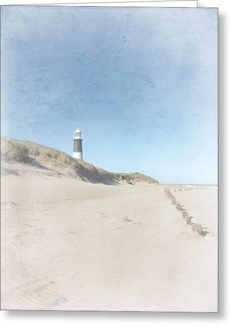 Spurn Point Lighthouse Texture Greeting Card