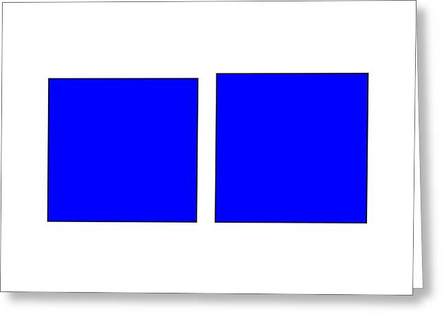 Square Illusion - Vertical Lines Appear Longer Greeting Card by