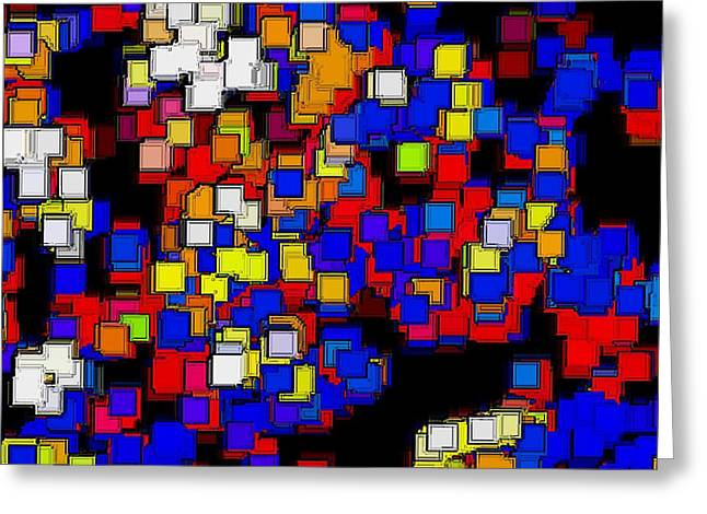 Squares Selection Number 2 Greeting Card by Rod Saavedra-Ferrere