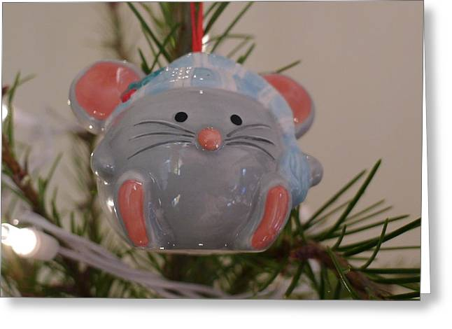 Greeting Card featuring the photograph Squeaky Xmas by Richard Reeve