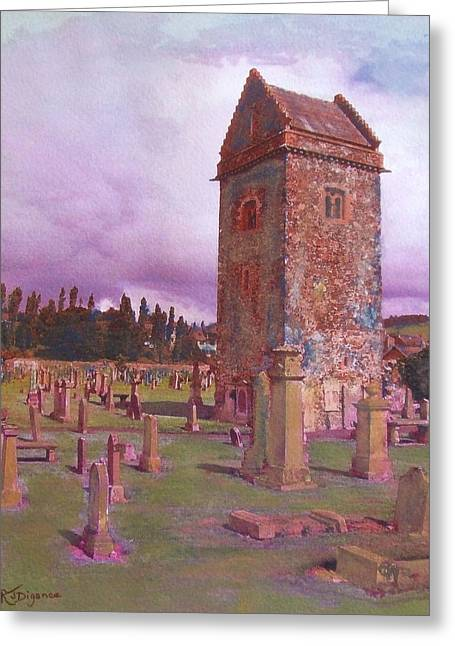 St Andrews Tower  Peebles Greeting Card