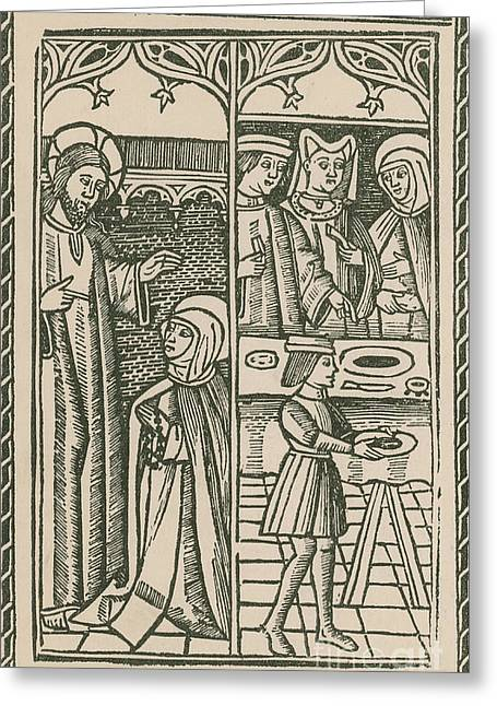 St. Catherine, Italian Philosopher Greeting Card by Science Source