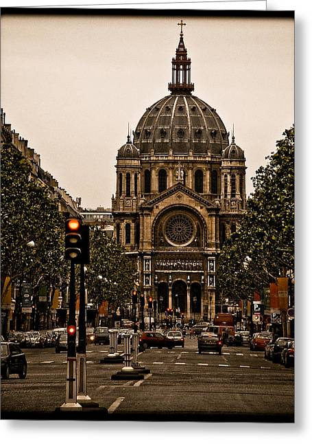 Paris, France - St. Etienne Greeting Card