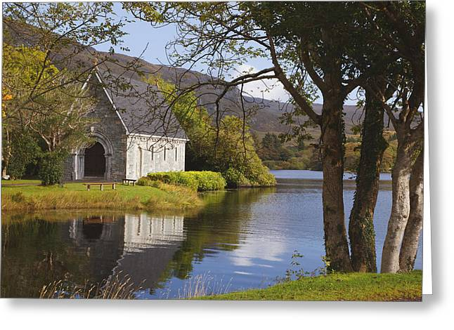 St. Finbarres Oratory On Shore Greeting Card by Ken Welsh