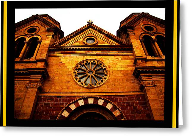 Greeting Card featuring the photograph St. Francis Basilica Cathedral by Susanne Still