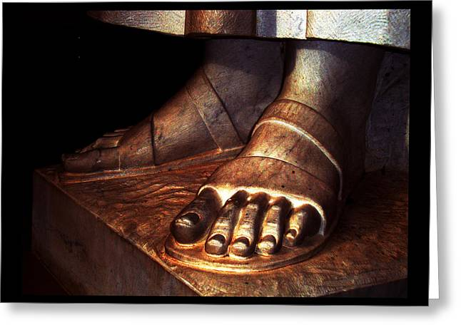 St. Francis Of Assisi's Sacred Feet Greeting Card by Susanne Still