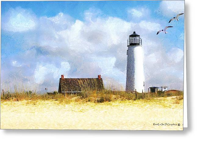 St. George Island Lighthouse Greeting Card