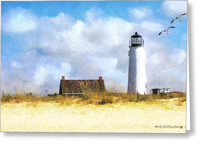 Greeting Card featuring the photograph St. George Island Lighthouse by Rhonda Strickland