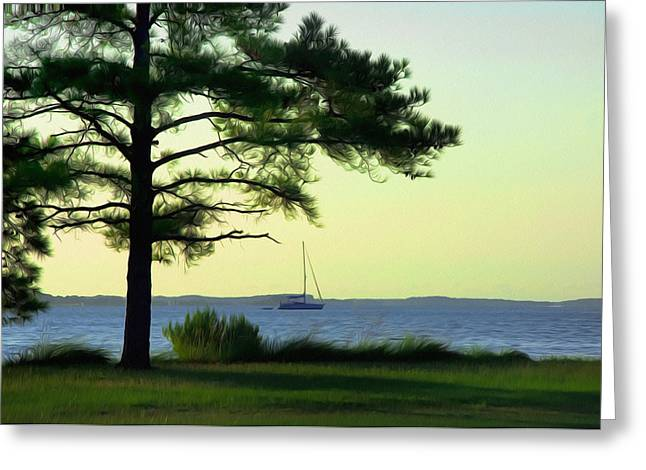 St. George's Island Greeting Card by Bill Cannon