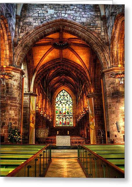 St Giles Cathedral Greeting Card by Svetlana Sewell