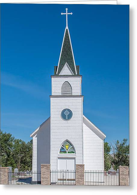 Greeting Card featuring the photograph St. John The Evangelist Catholic Church by Fran Riley