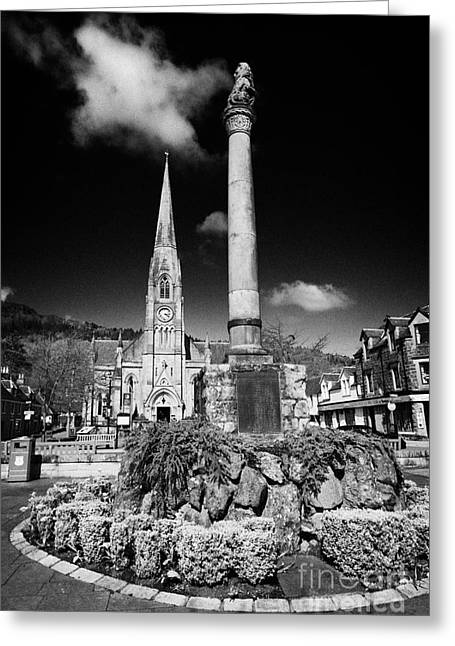 St Kessogs Church Visit Scotland Tourist Centre And War Memorial In Ancaster Square In The Picturesq Greeting Card by Joe Fox