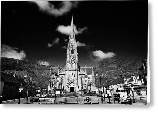 st kessogs church visit scotland tourist centre in the picturesque small town of Callander scotland  Greeting Card by Joe Fox