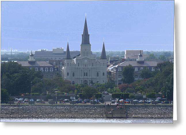 Greeting Card featuring the photograph St. Louis Cathedral 2 by Diane Ferguson