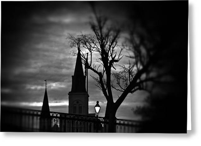 St. Louis Cathedral At Night 1 Greeting Card