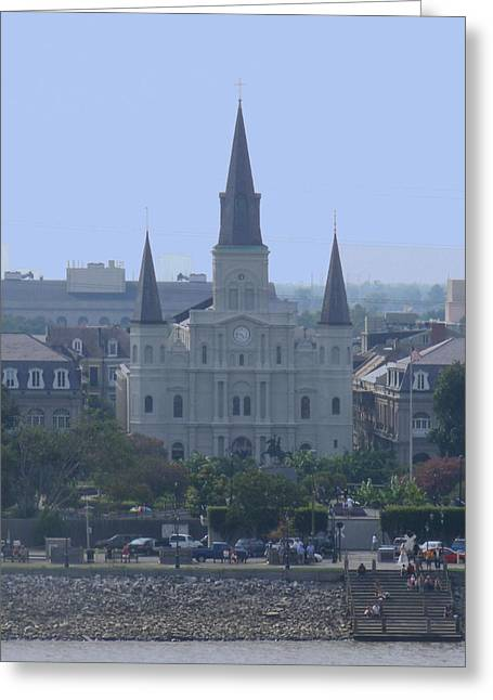 Greeting Card featuring the photograph St. Louis Cathedral by Diane Ferguson