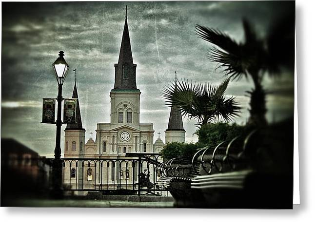Greeting Card featuring the photograph St. Louis Cathedral by Jim Albritton