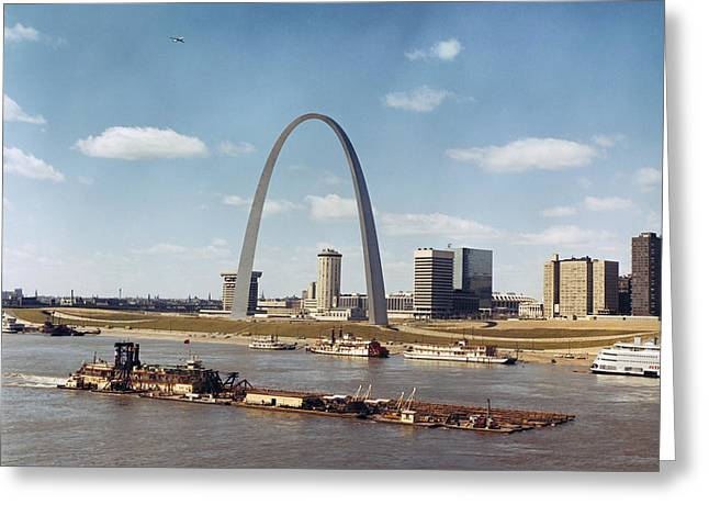 St. Louis: Waterfront Greeting Card by Granger