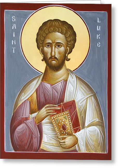 St Luke The Evangelist Greeting Card by Julia Bridget Hayes