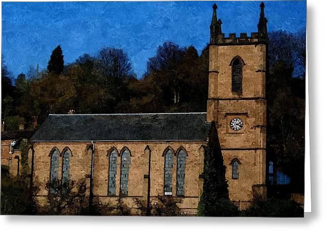 St Luke's Church Ironbridge Greeting Card