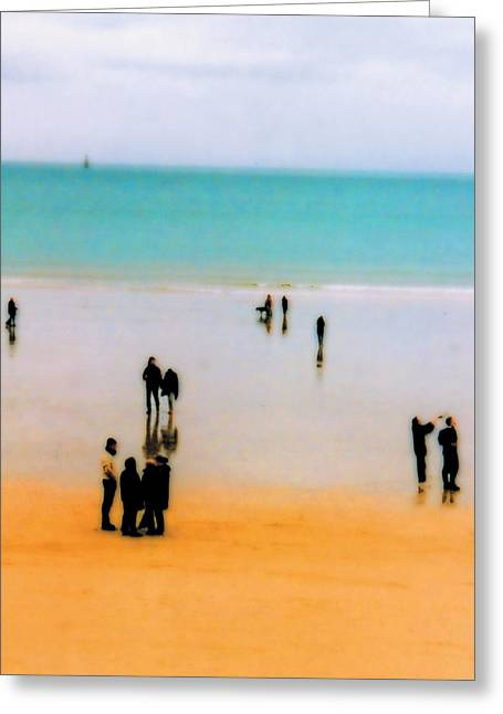 St Malo Beach Greeting Card by Nigel Chaloner