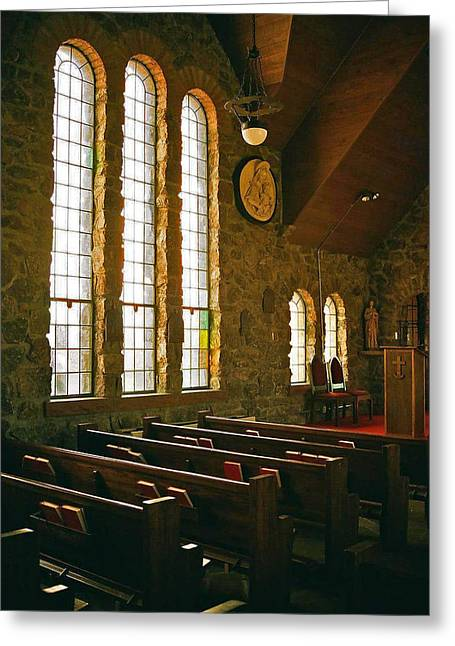 Greeting Card featuring the photograph St Malo Church by David Pantuso