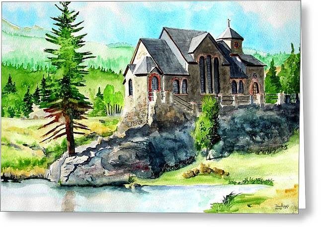 Greeting Card featuring the painting St. Malo Summer by Tom Riggs