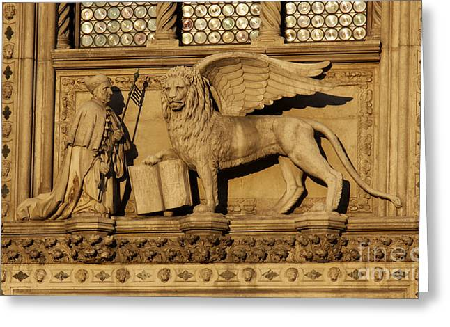 St. Mark The Winged Lion Greeting Card by Chris Hill