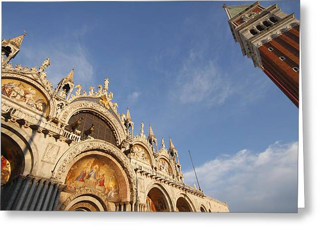 St. Markss Basilica And Campanile Off Greeting Card by Trish Punch