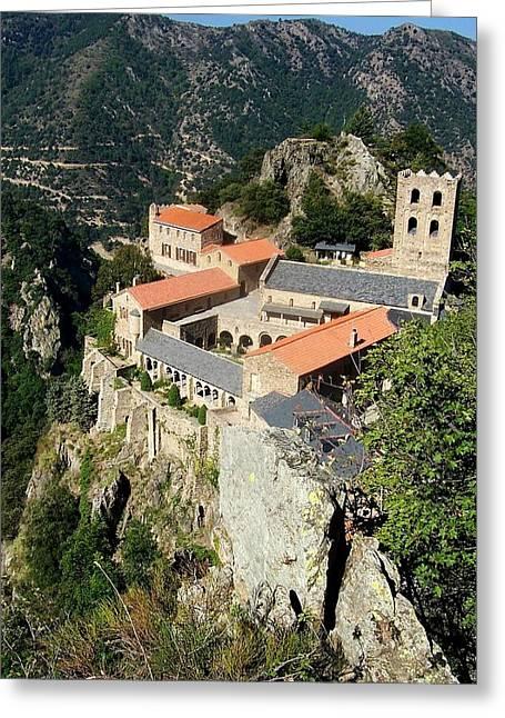 St Martin Du Canigou Abbey France Greeting Card