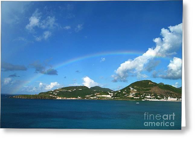 St Maartin Rainbow Greeting Card by Eva Kaufman