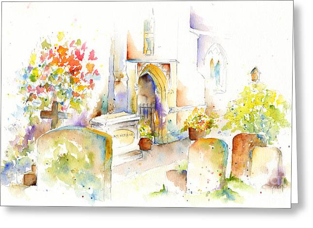St Mary The Virgin Headstones Greeting Card