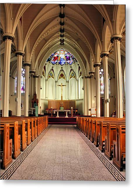 St. Mary's Basilica Halifax Greeting Card by Kristin Elmquist