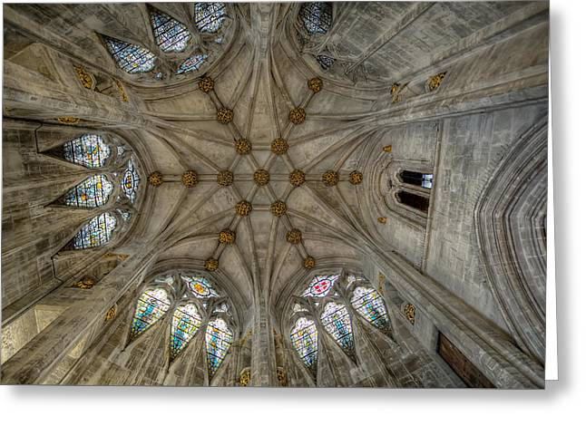 St Mary's Ceiling Greeting Card by Adrian Evans