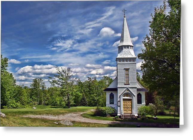 St Matthews Episcopal Chapel Greeting Card by Heather Applegate