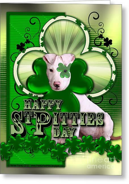 St Patricks - Happy St Pitties Day Greeting Card