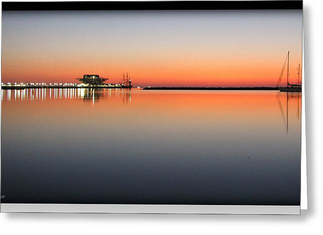 St. Pete Sunrise Greeting Card