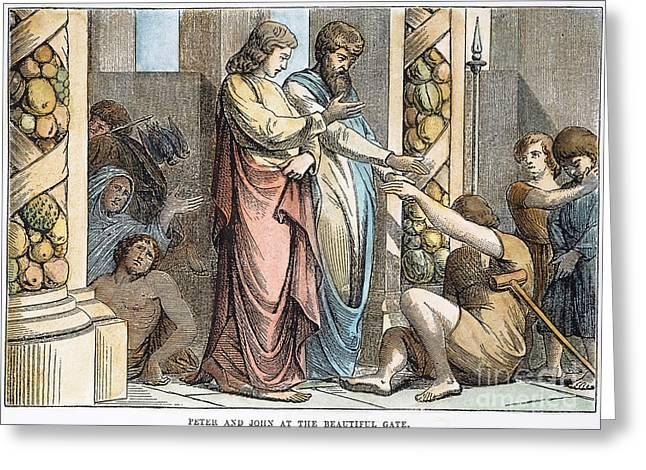 St Peter & St John Greeting Card by Granger