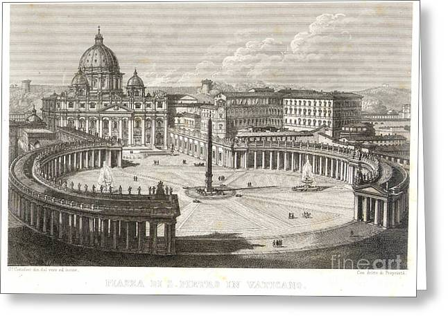 St. Peters Square Greeting Card