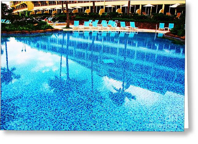 Greeting Card featuring the photograph St. Regis Pool by Michele Penner