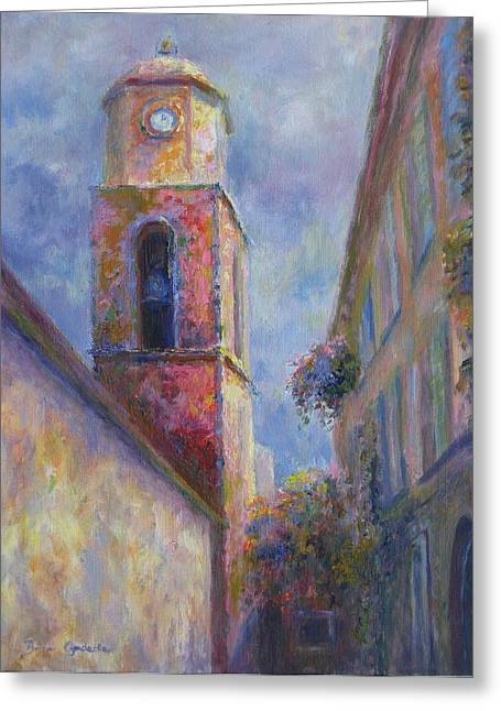 Greeting Card featuring the painting St. Tropez by Bonnie Goedecke