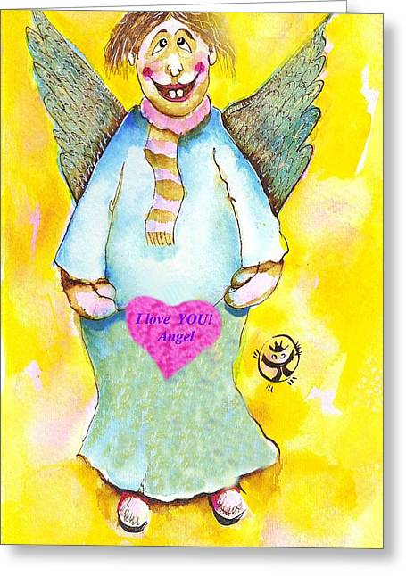 St. Valentine's Angel Greeting Card by Ion vincent DAnu